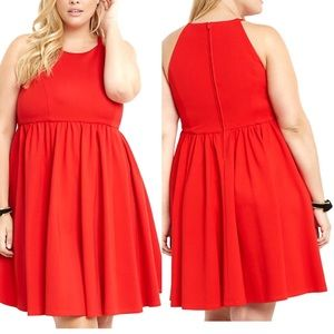 NWT Torrid Ponte High Neck Skater Dress
